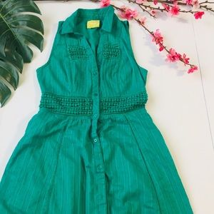 Maeve by Anthropologie green summer dress